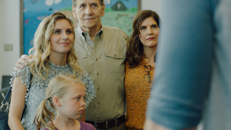 Nicole DuBois, Morgan Marlow, Larry Knight, and Lizet Benrey in White Wings (2018).