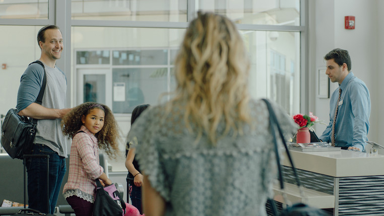 Josh George and Leilani Coleman in White Wings (2018).