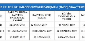2019 TMGD SINAV TAKVİMİ