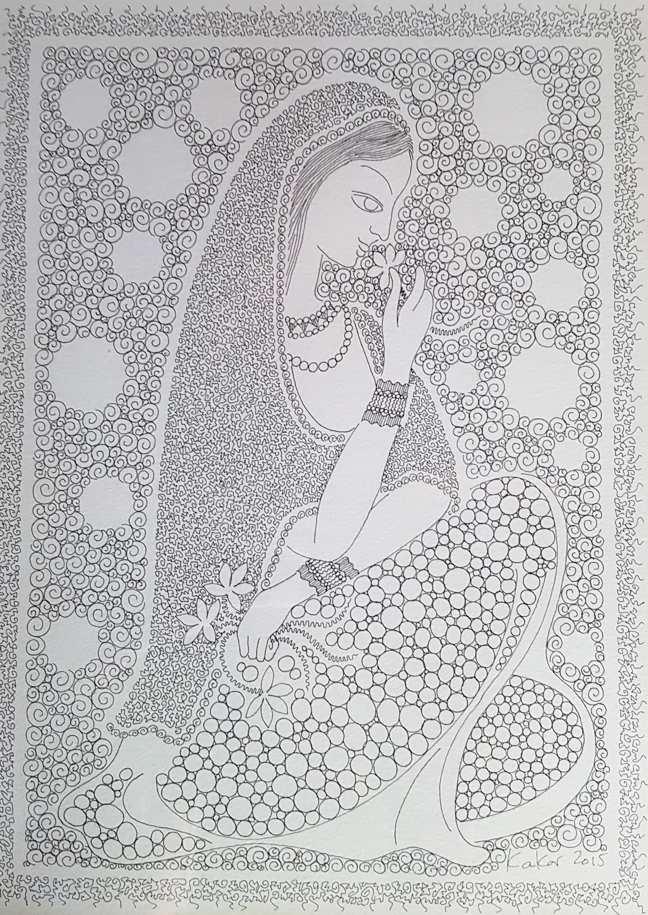 Women and Flower, 2014
