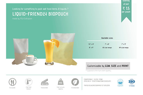 SAMPLE PACK - Liquid-Friendly BioPouch