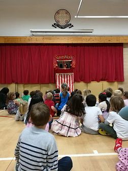 Engaging entertainement for children Surrey, London. Punch and Judy Show for Schools and events