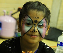 Facepainting childrens birthday party entertainment Surrey