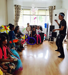 Juggling show at kids party in Surrey