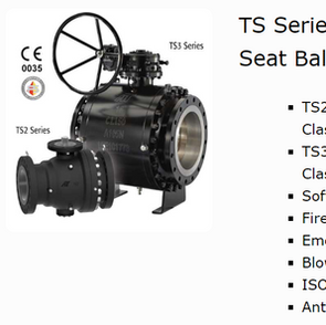 TS Series Soft Seat Trunnion Ball Valves