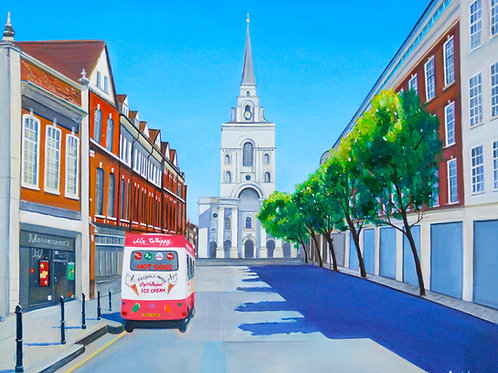 Sunny Day at Spittalfields - original oil painting