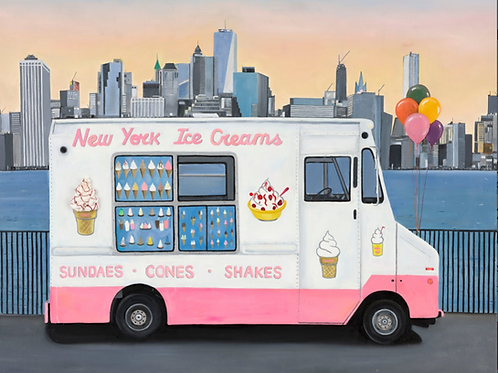 New York Ice Cream Van limited edition print