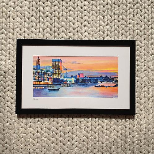 Waterloo Sunset, framed giclee print