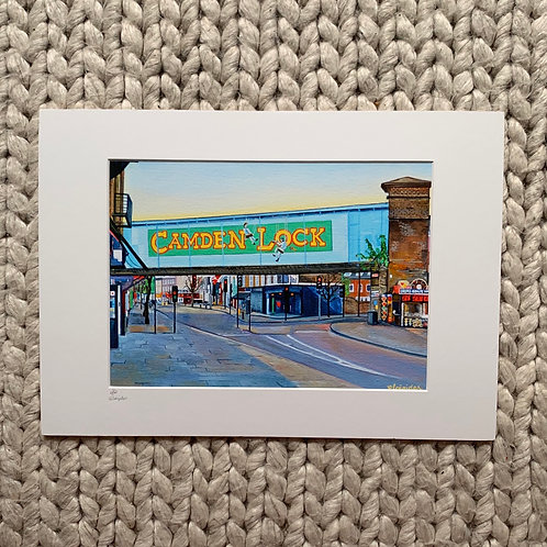 A3 size limited edition print of Camden