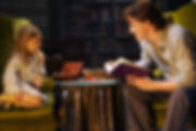 дочь, папа, дочка, отец, чтение, книга