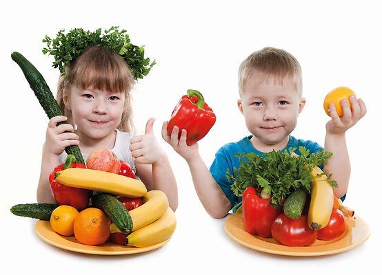 мальчик, девочка, юлизнецы, брат, сестра, овощи, фрукты