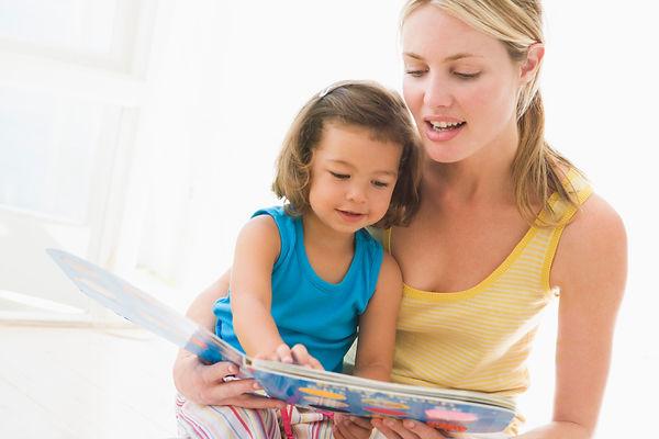 мама,дочь, дочка, чтение, книга