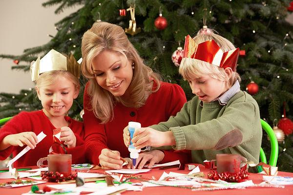 поделки, новый год, елка, семья