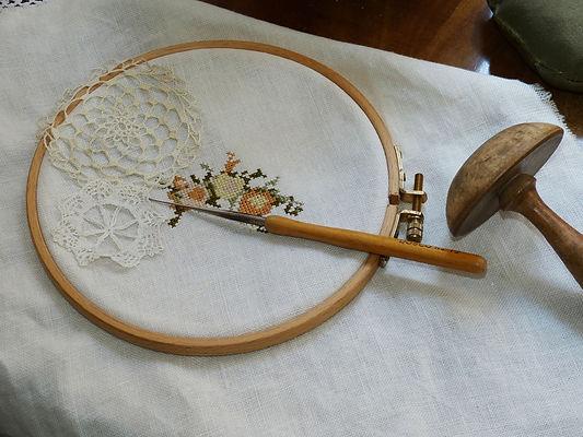 рукоделие, вышивка, салфетка