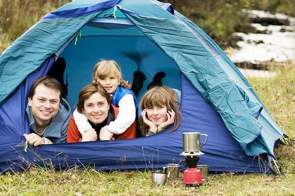 палатка, поход, семья, дети, родители
