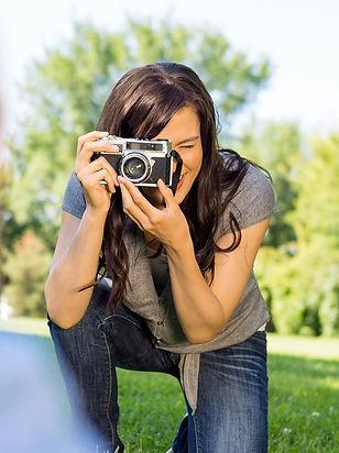 девушка, фотограф