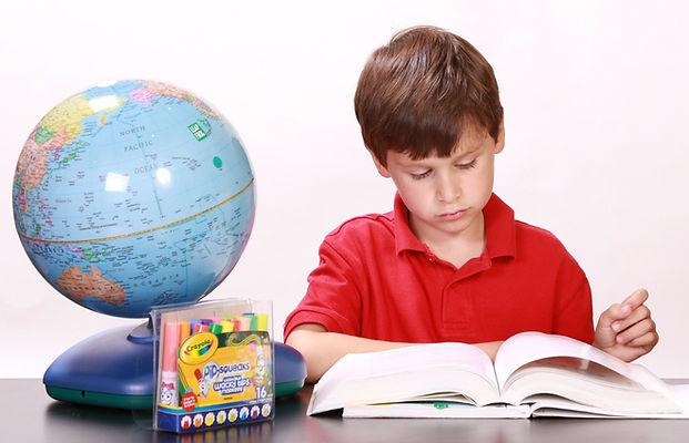 глобус, урок, книга, школьник