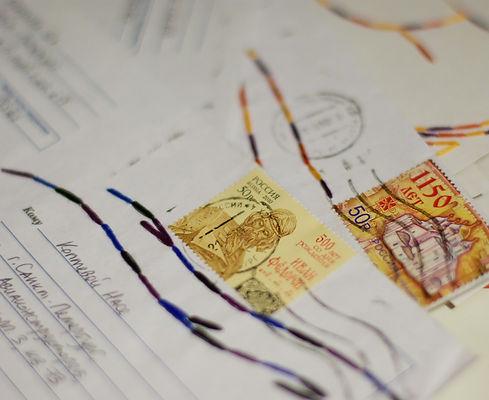 конверт, марка