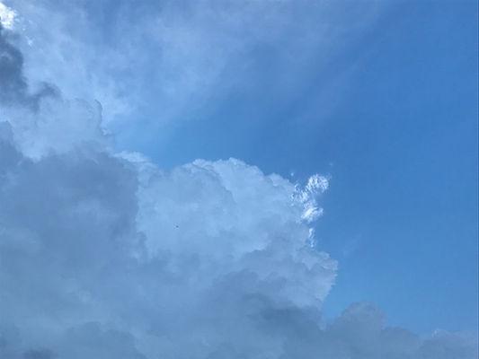 небо, облака, лазурь