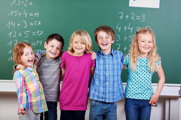 школа, примеры, математика, школьная достка, ученики, мальчики, девочки