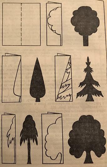 ель, деревья, аппликация, дерево