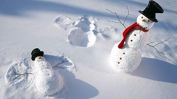 снеговик, зима, февраль, снег