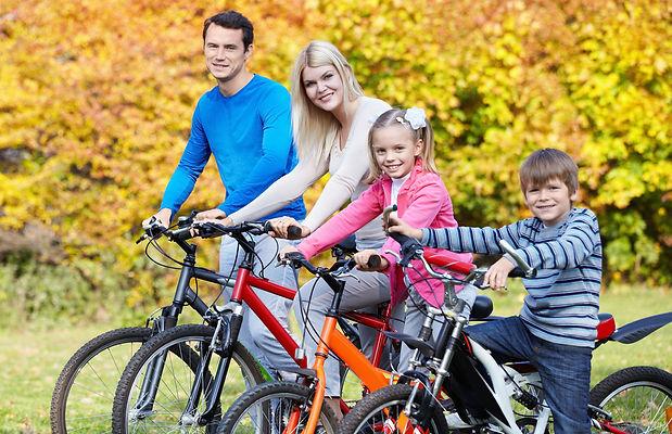 семья, велосипед