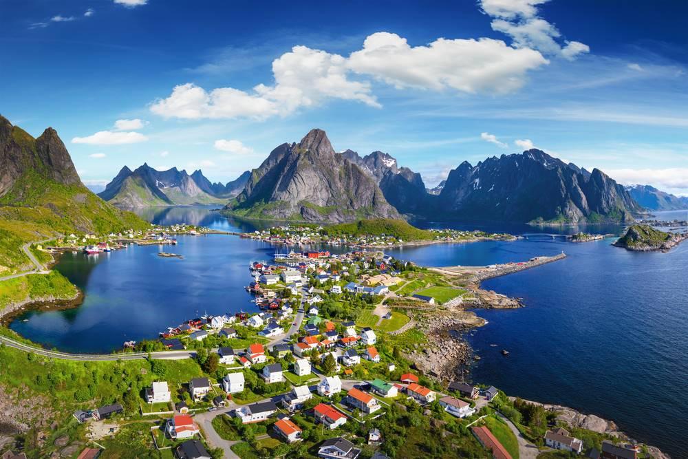Lofoten Adaları manzara