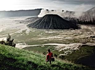 endonezya volkanik arazi