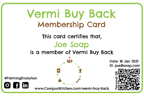 Vermi Buy Back Membership Card