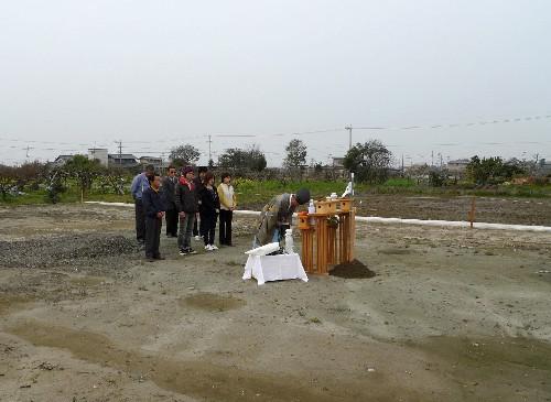 岐阜現場地鎮祭の写真
