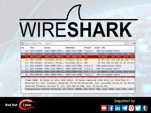 Per la serie Hacking Tools, oggi parliamo di Wireshark