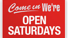 Now Open Saturdays and Evenings...