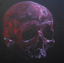 Red and purple skull