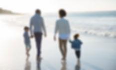 Familia en una playa