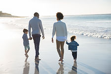 해변에서 가족