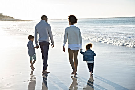 Happy Family at the Beach because they did their Estate Planning at Heritage Law Group PLLC