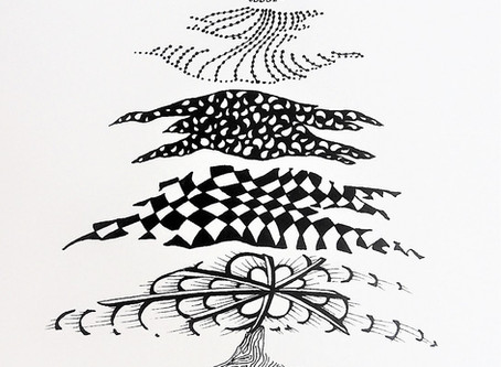 The Peace Tree - Pen and Ink