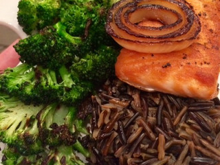 Recipe:  Salmon and Rice with Ponzu