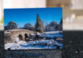 POSTBRIDGE SNOW - GLASS DISPLAY ART MOCK