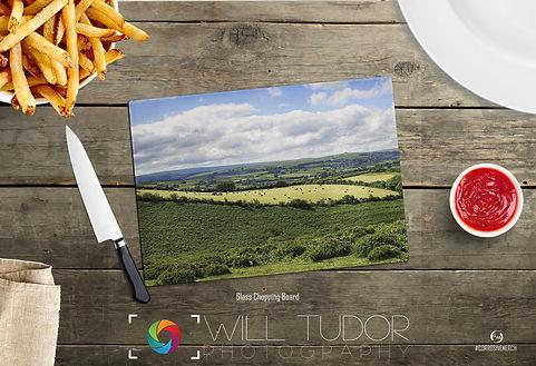 Dartmoor Summer Farmer Chopping Board Da