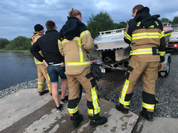 Räddningstjänst provkör räddningsbåt