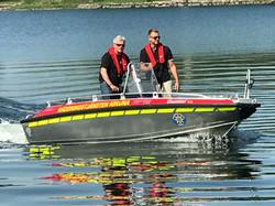 Demonstrerar Nordic Rescue SAR boat