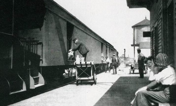 Eastham RR Station - loading the train