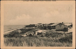 Cottages and Beach Postcard, North Eastham, MA