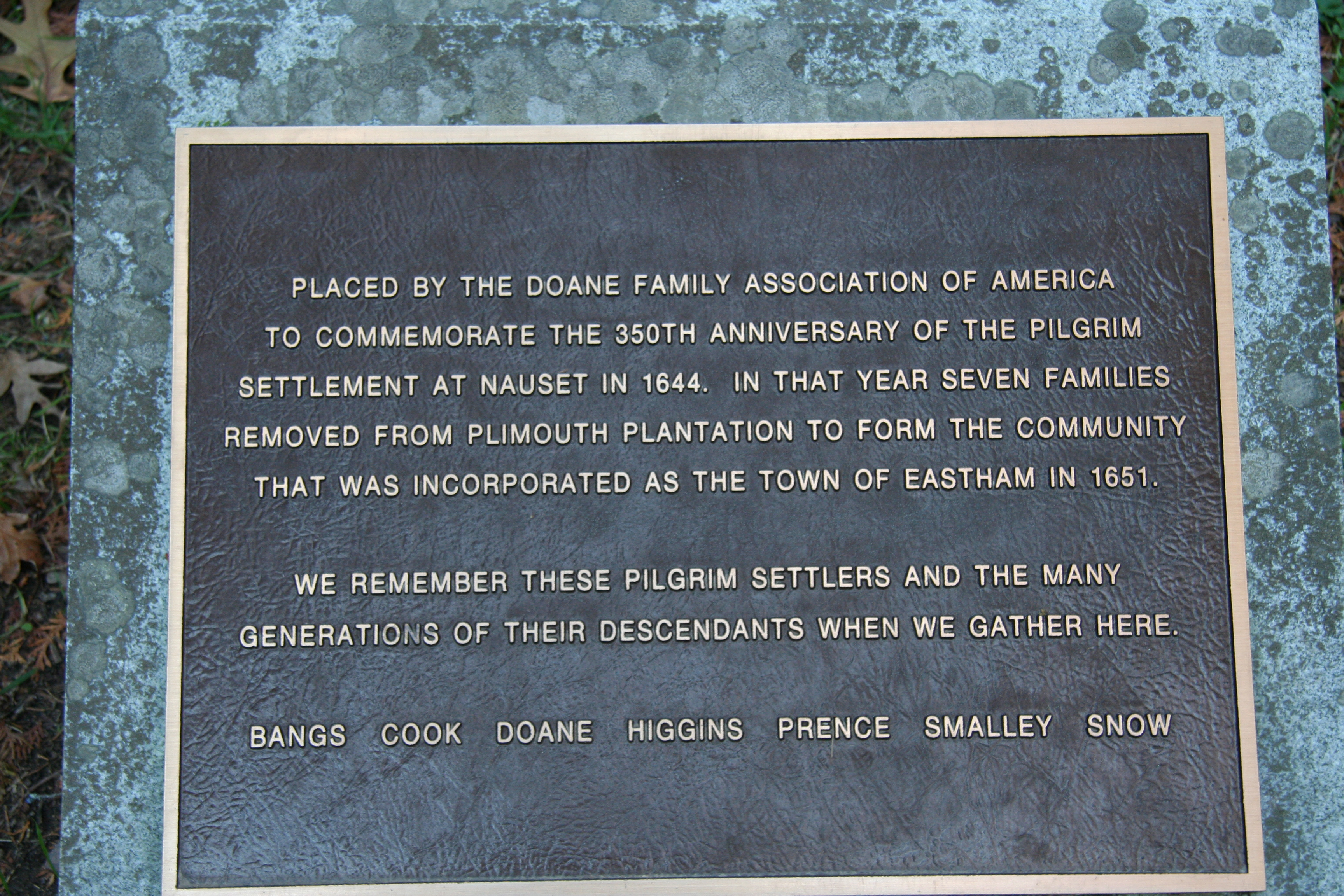 Doane Family Plaque