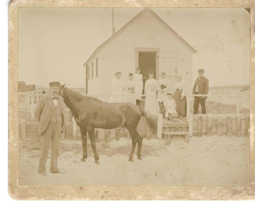 Hopkins cottage at Nauset Beach July 15, 1894
