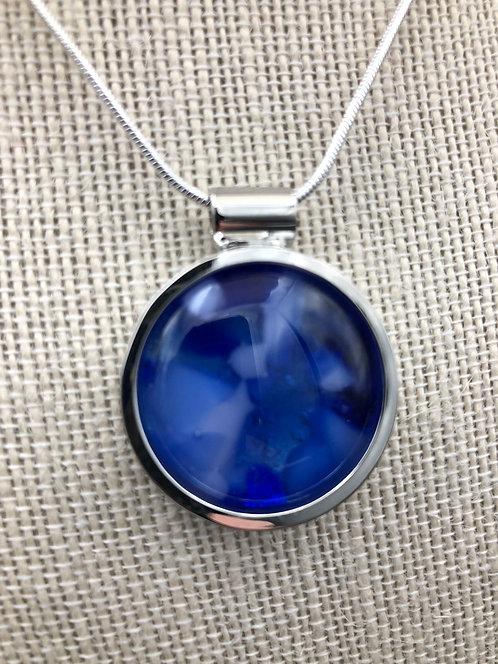 """""""Toni"""" Kilnformed Glass Necklace"""