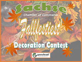 sachse fallfest decorating contest logo.