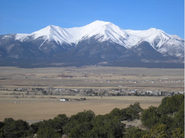 Snow Capped Mount Princeton